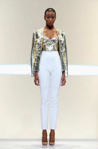 High Waist Pants「Mathieu Mirano - Runway - Mercedes-Benz Fashion Week Spring 2014」:写真・画像(8)[壁紙.com]