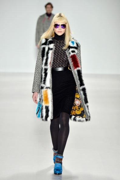 Multi Colored Coat「Custo Barcelona - Runway - Mercedes-Benz Fashion Week Fall 2014」:写真・画像(17)[壁紙.com]