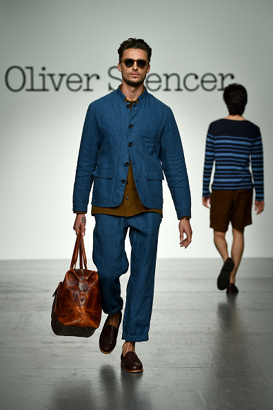 Blue Jacket「Oliver Spencer - Catwalk - LFWM June 2017」:写真・画像(19)[壁紙.com]