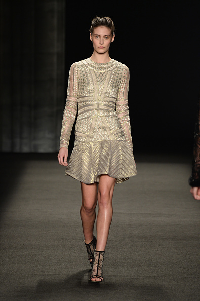 Cream Colored「Monique Lhuillier - Runway - Mercedes-Benz Fashion Week Fall 2014」:写真・画像(18)[壁紙.com]