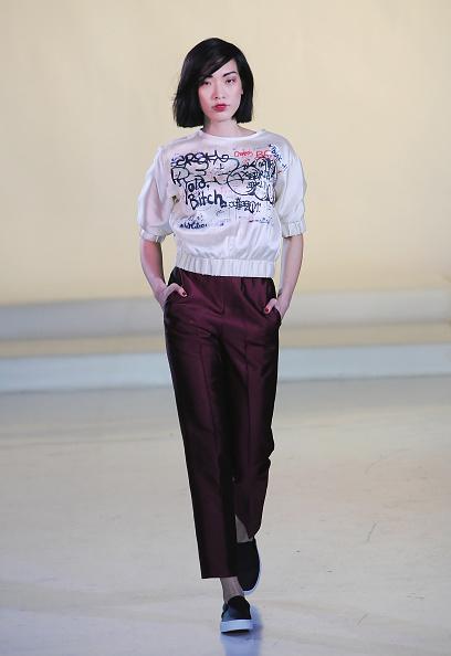 Purple Pants「Julianna Bass - Runway - Mercedes-Benz Fashion Week Fall 2015」:写真・画像(19)[壁紙.com]