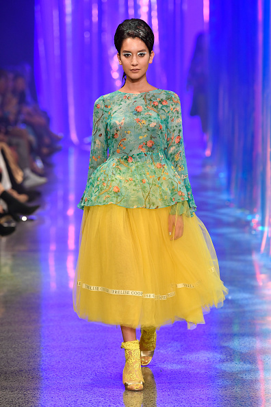 Foliate Pattern「Trelise Cooper - Runway - New Zealand Fashion Week 2018」:写真・画像(8)[壁紙.com]