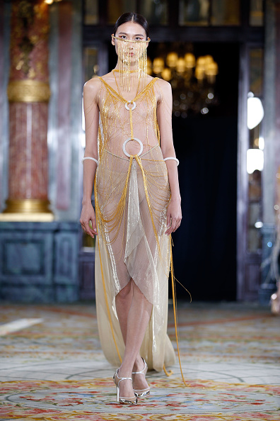 Nude Colored Dress「Lanyu : Runway - Paris Fashion Week - Haute Couture Fall/Winter 2017-2018」:写真・画像(15)[壁紙.com]