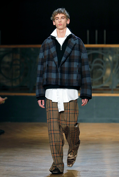 タータンチェック「Wooyoungmi : Runway - Paris Fashion Week - Menswear F/W 2017-2018」:写真・画像(1)[壁紙.com]