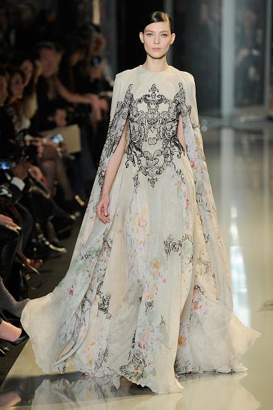 Gray Dress「Elie Saab: Runway - Paris Fashion Week Haute-Couture Spring/Summer 2013」:写真・画像(14)[壁紙.com]