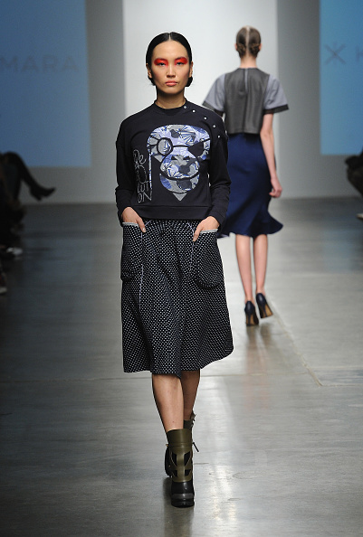 Chelsea Piers「Katty Xiomara - Runway - Mercedes-Benz Fashion Week Fall 2015」:写真・画像(14)[壁紙.com]