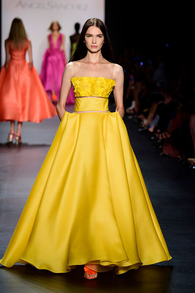 Yellow Dress「Angel Sanchez - Runway - Spring 2016 New York Fashion Week: The Shows」:写真・画像(6)[壁紙.com]
