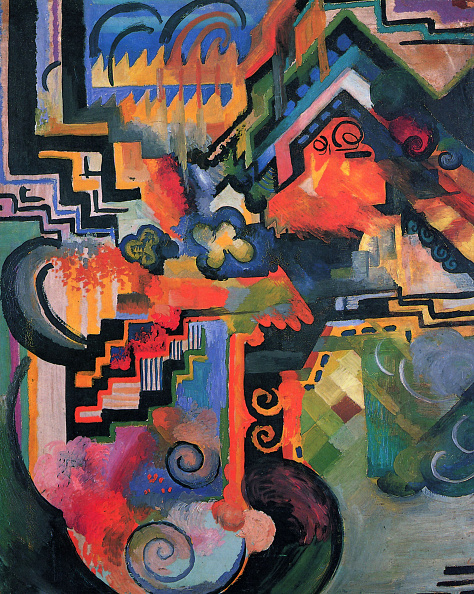Painting - Activity「Colored Composition I (Hommage ¿ Johann Sebastian Bach) 1912」:写真・画像(14)[壁紙.com]