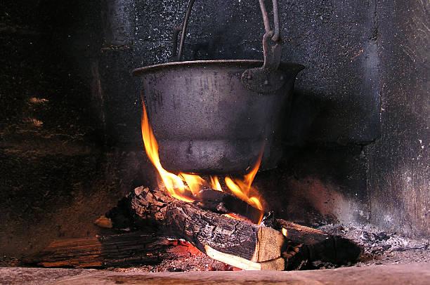 Pot on a fire:スマホ壁紙(壁紙.com)