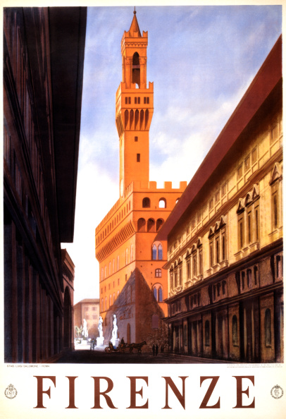 Florence - Italy「Florence Travel Poster」:写真・画像(2)[壁紙.com]