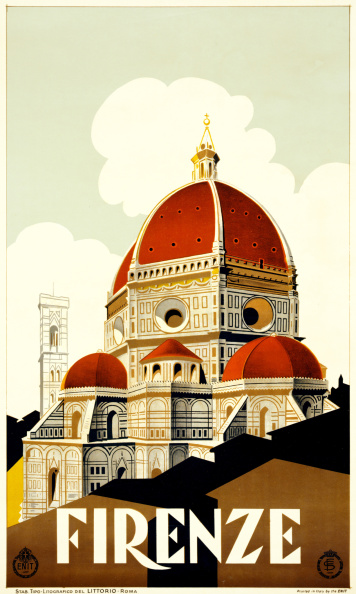 Florence - Italy「Florence Travel Poster」:写真・画像(8)[壁紙.com]