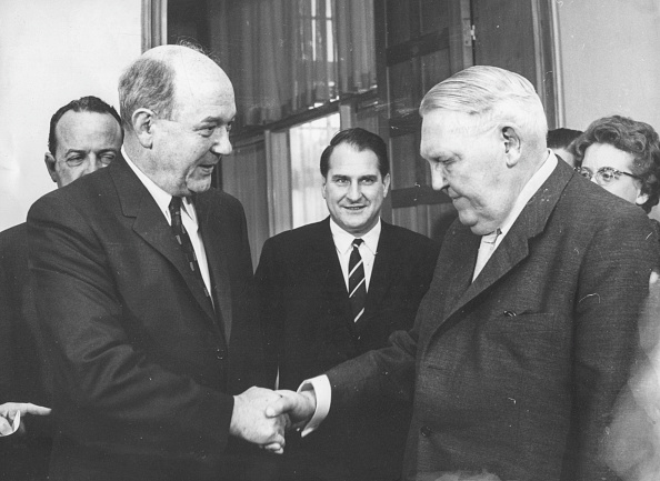 Chancellor of Germany「Dean Rusk And Ludwig Erhard」:写真・画像(18)[壁紙.com]