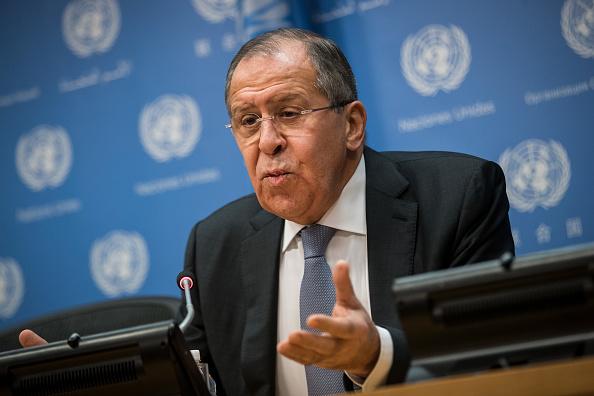 Global「Russian Foreign Minister Sergey Lavrov Holds Press Briefing At U.N.」:写真・画像(11)[壁紙.com]