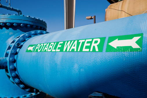 Public Utility「Signage on Large Water Pipe for Potable Water」:スマホ壁紙(16)