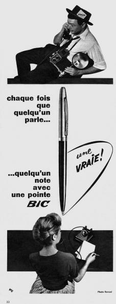 Pen「French adevrtisement for BIC pens, november 1957」:写真・画像(6)[壁紙.com]