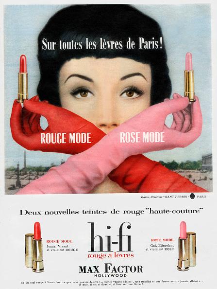 Lipstick「French adevrtisement for Hi-Fi Max Factor Hollywood lipsticks, 1958」:写真・画像(7)[壁紙.com]