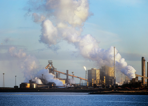 Greenhouse Gas「Emissions from a Corus steel plant at Redcar on Teeside, UK.」:写真・画像(6)[壁紙.com]