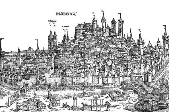 City Life「Nurnburg view  in the 15th century」:写真・画像(15)[壁紙.com]