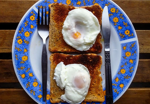 Poached Food「Two Poached Eggs on Toast」:スマホ壁紙(15)
