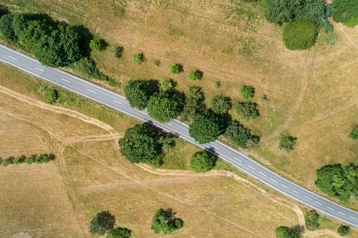 Pasture「Road through rural scene」:スマホ壁紙(9)