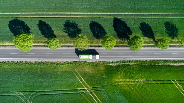 Road through the fields:スマホ壁紙(壁紙.com)