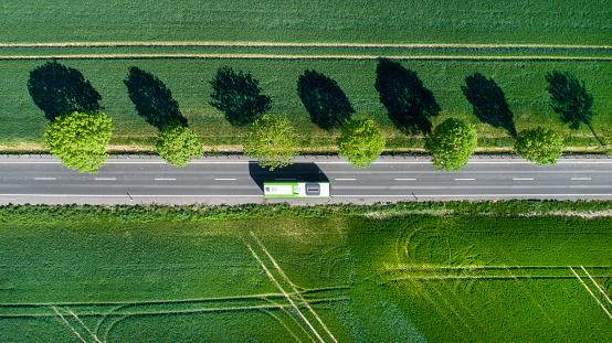 Road Marking「Road through the fields」:スマホ壁紙(7)