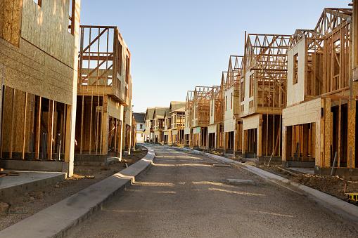 Housing Development「Road through residential construction site」:スマホ壁紙(18)