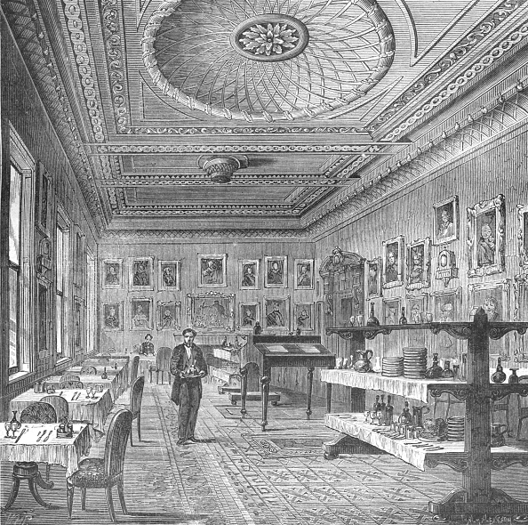 Ceiling「Dining Room of the Garrick Club」:写真・画像(15)[壁紙.com]