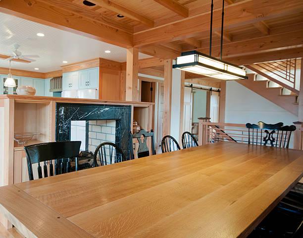 Dining Room Table - Prairie School Lamp:スマホ壁紙(壁紙.com)