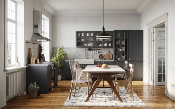 Dining room in a modern kitchen:スマホ壁紙(壁紙.com)