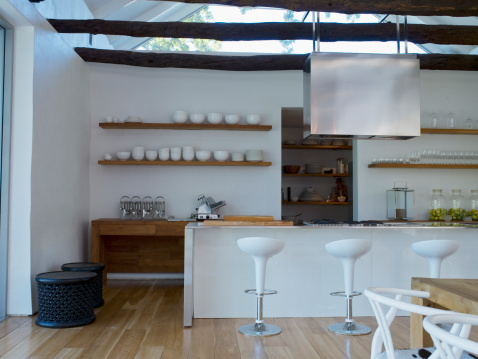 Stool「Dining room and bar area of a modern home」:スマホ壁紙(18)