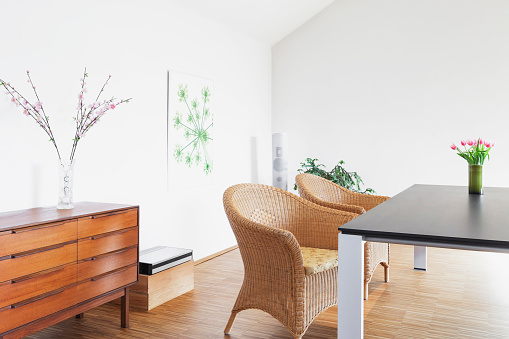 Dining Table「Dining room in a penthouse」:スマホ壁紙(19)