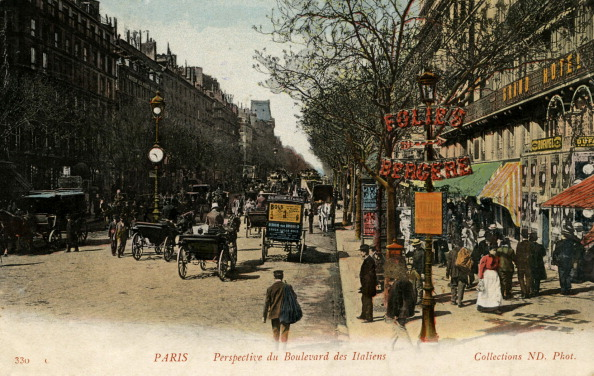 Boulevard「Boulevard des Italiens, Paris, c. 1900」:写真・画像(9)[壁紙.com]