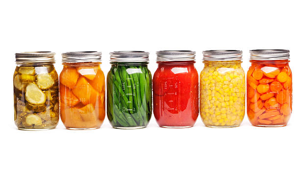 Canning Food Jars of Canned Vegetables Preserved in Glass Storage:スマホ壁紙(壁紙.com)