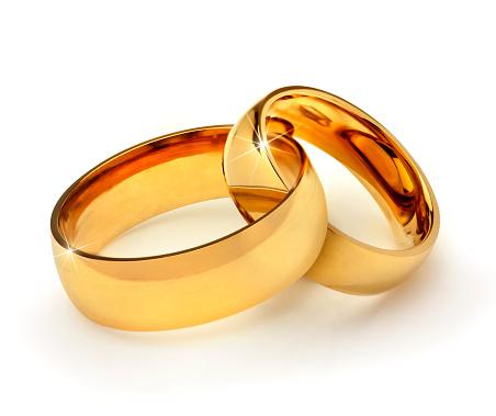 Interlocked「Gold wedding rings interlocked」:スマホ壁紙(13)