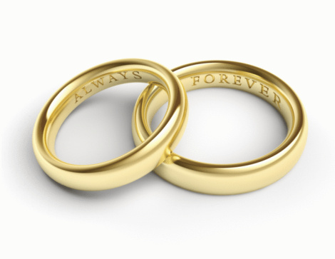 Two Objects「Gold Wedding Bands / Rings」:スマホ壁紙(6)