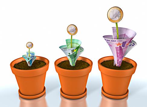 Economic fortune「Plant Pots Growing Money」:スマホ壁紙(10)