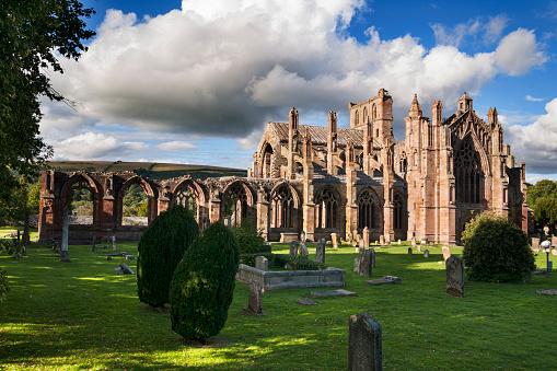 Abbey - Monastery「Evening,  Melrose Abbey, Borders Region, Scotland」:スマホ壁紙(19)