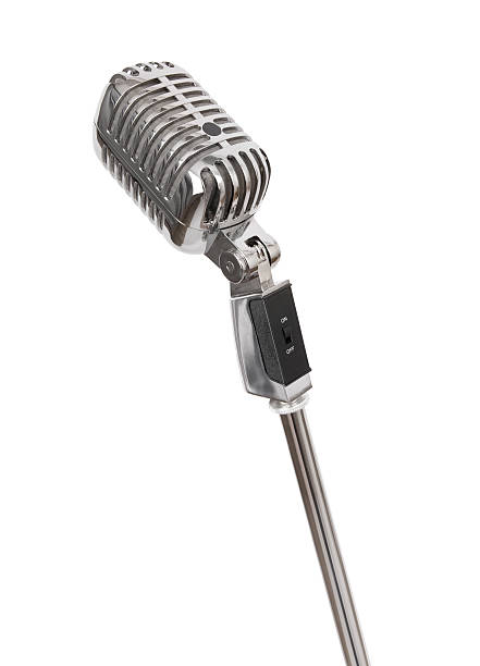Retro Microphone (+clipping path, XXL):スマホ壁紙(壁紙.com)