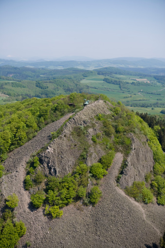 Basalt「Aerial of Blockmeer basalt rocks on Milseburg」:スマホ壁紙(18)