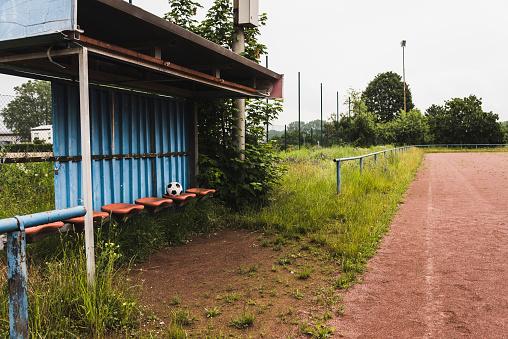 Bench「Empty coaching bench at soccer field」:スマホ壁紙(16)
