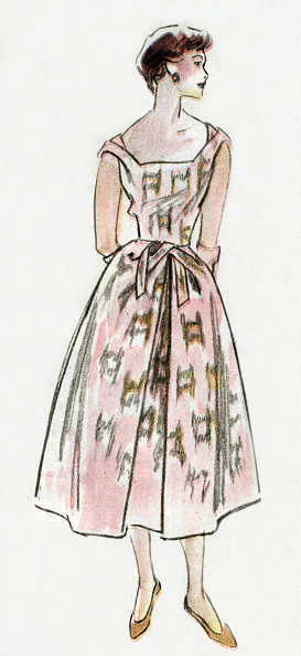 Givenchy「Dress by Hubert de Givenchy, 1952, drawing」:写真・画像(18)[壁紙.com]