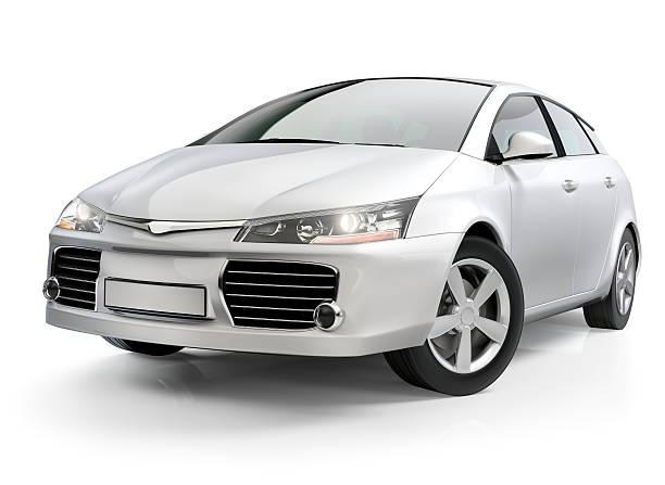 White compact car:スマホ壁紙(壁紙.com)