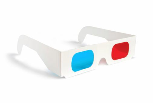 透明「3 D メガネ-側面図」:スマホ壁紙(10)