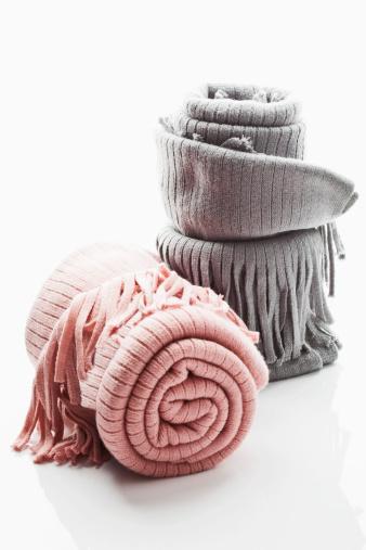毛布「Woollen blanket on white background, close up」:スマホ壁紙(16)