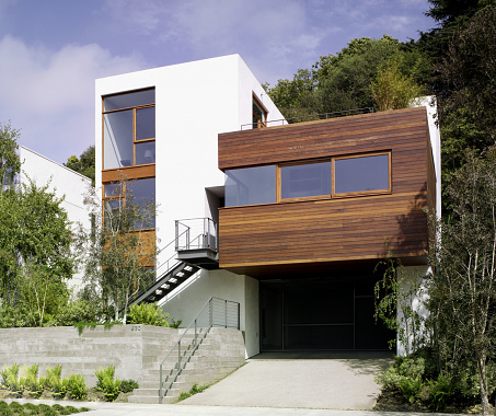 Santa Monica「Modern Stucco and Wood Clad House」:スマホ壁紙(5)