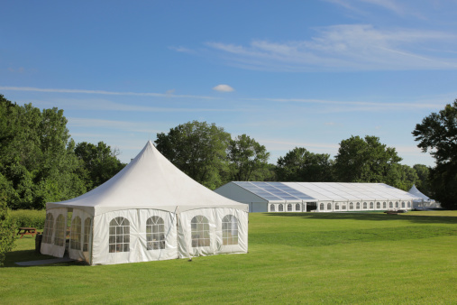 Entertainment Tent「Small and large celebration tents in a park」:スマホ壁紙(3)