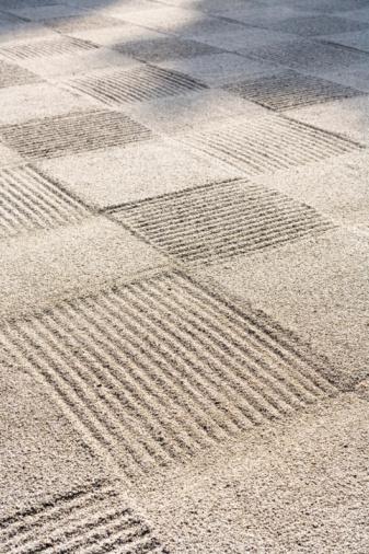 和柄「Japan, Kyoto, Tofukuji Temple, patterns in rock garden」:スマホ壁紙(16)