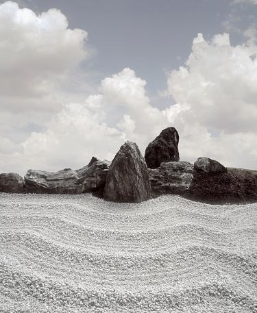 Japanese Rock Garden「Japan, Kyoto, Zen Garden (Digital Composite)」:スマホ壁紙(12)