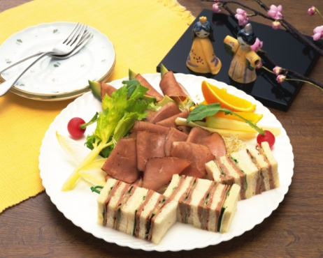 Hinamatsuri「Sandwich, Lunch, High Angle View」:スマホ壁紙(9)